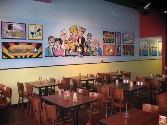 WM004 - Custom Wall Mural for Restaurant