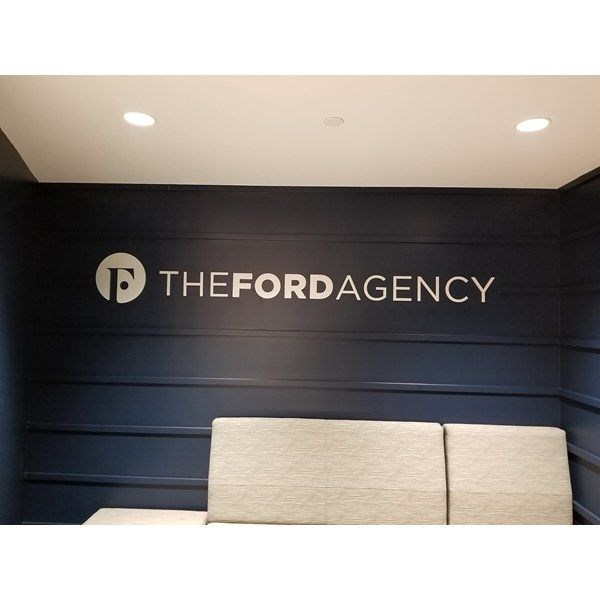 Dimensional Wall Letters and Logo for The Ford Agency