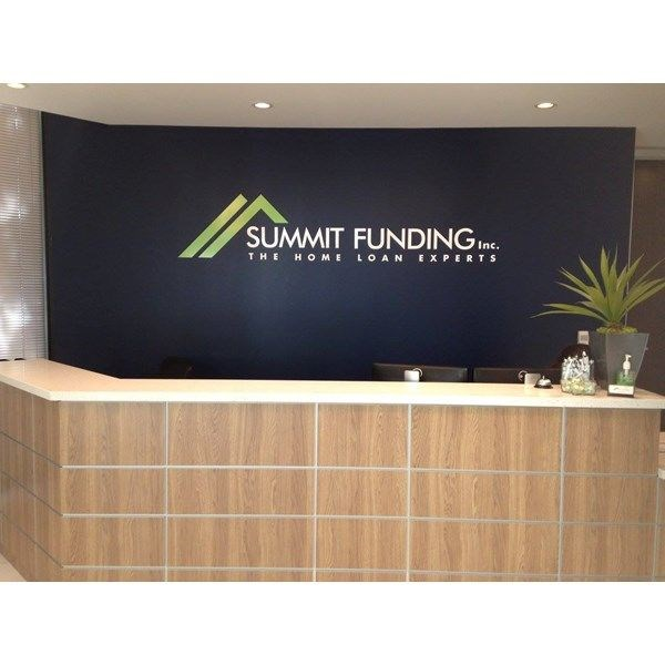 Indoor Dimensional Letters and Logo for Summit Funding