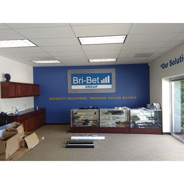White and Blue 3D Indoor Sign for Bri-Bet