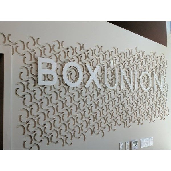 White 3D Letters for BoxUnion