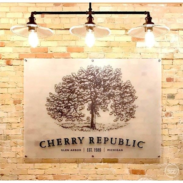 Frosted 3D Sign with Tree Logo for Cherry Republic