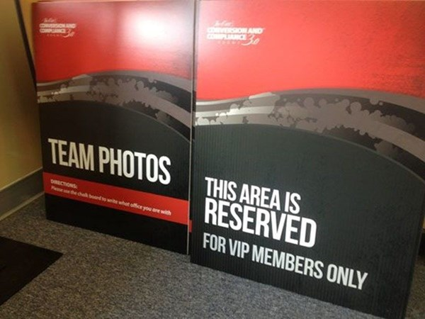 Red, Black, and Grey Retractable Banners