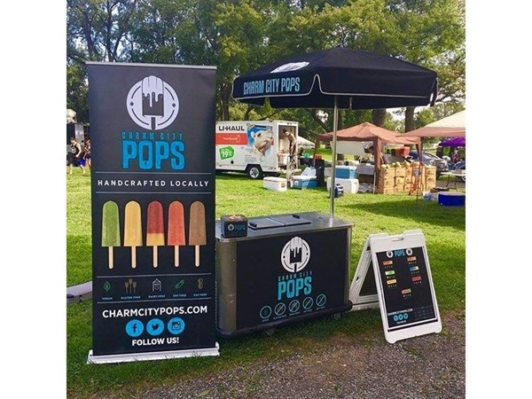 Pop Up Banner for Charm City Ice Pops