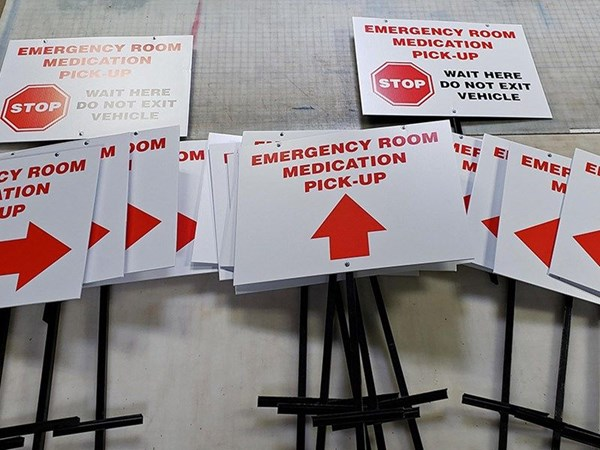 Emergency Medication Pickup Signs