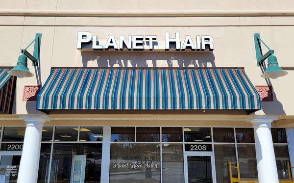 Planet Hair Storefront Channel Letters