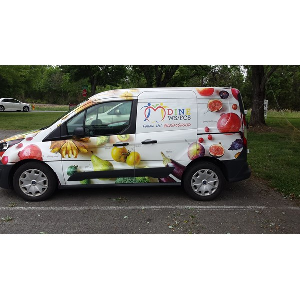 One of eight of a fleet of delivery vans, for Chartwells, a contractor for the WSFCS.