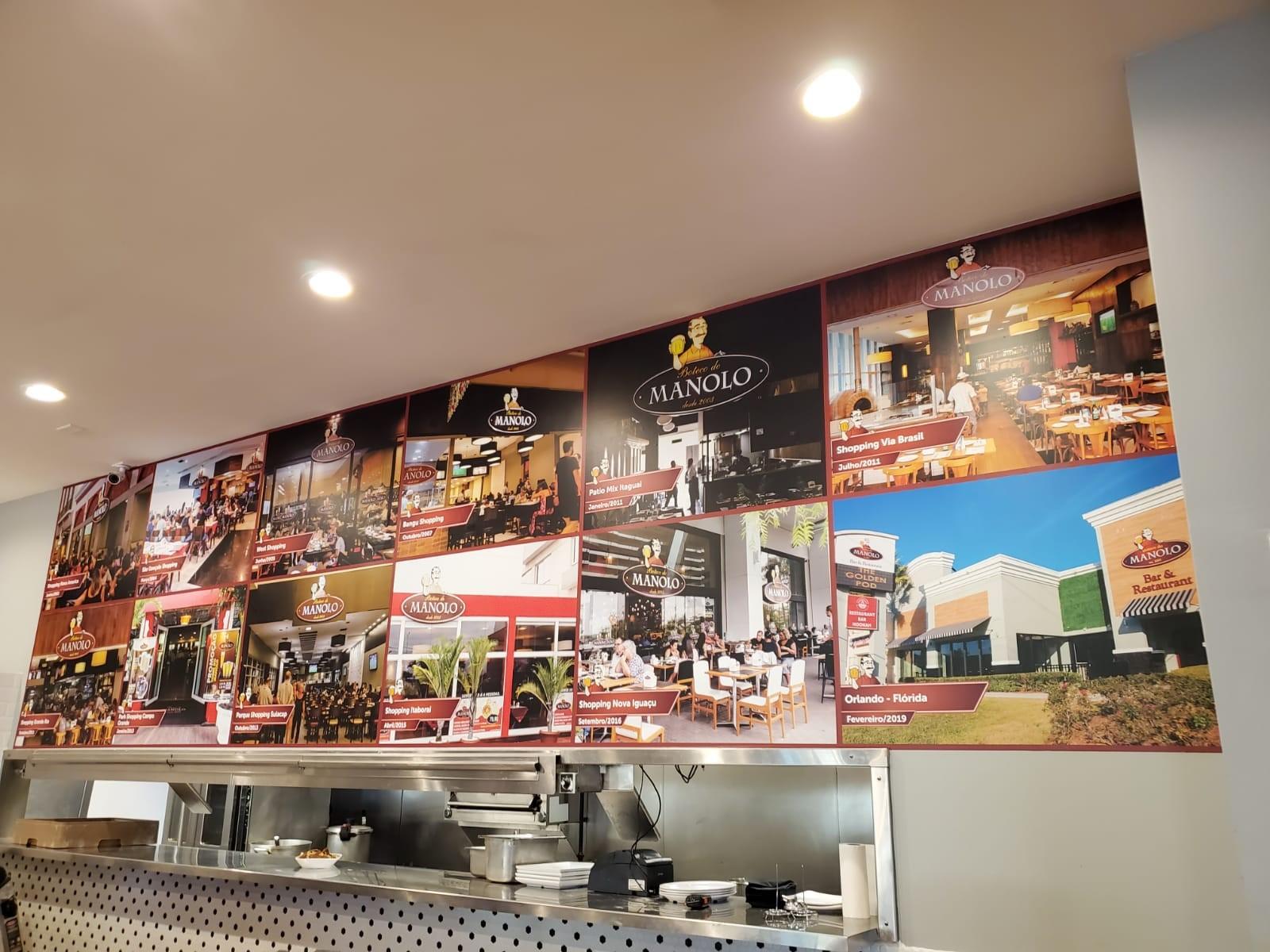Wall Graphics, Murals, Wallpaper | Interior Signage & Indoor Signs | Restaurant and Food Service Signs | Orlando, Florida | Manolo | Restaurante | Brazilian Food | Fastsigns | Signage | Wallpaper | Vinyllovers