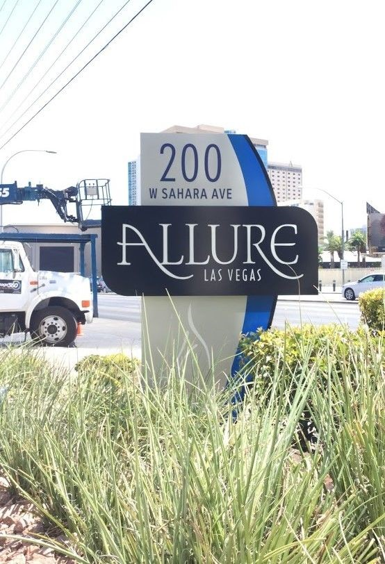 Exterior & Outdoor Signage | Pylon & Pole Signs | Property Management and Apartment Signs | Las Vegas | Allure