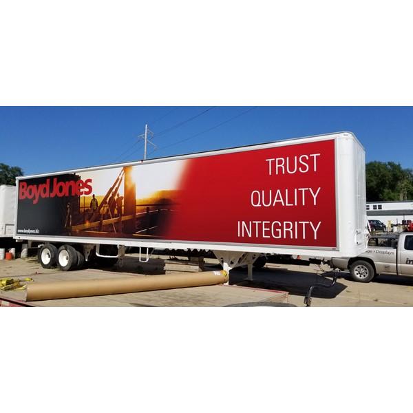 Truck Billboard System for Boyd Jones Construction