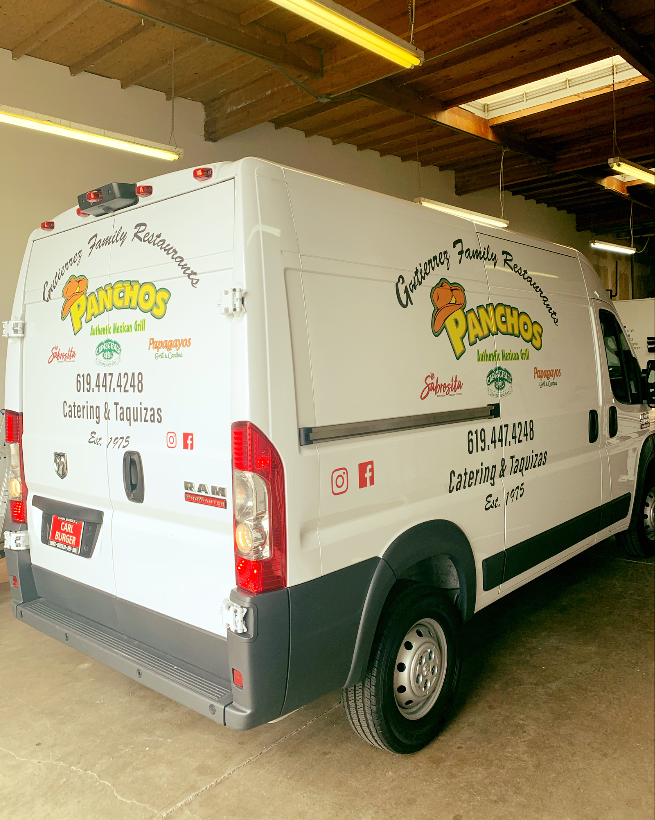 Partial Vehicle Wraps | Vehicle Decals & Lettering | Restaurant and Food Service Signs | Chula Vista, CA