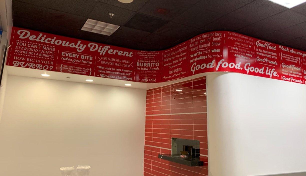 Wall Graphics, Murals, Wallpaper | Interior Signage & Indoor Signs | Restaurant and Food Service Signs | Chula Vista, CA