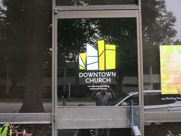 Downtown Church Vinyl Window Decal