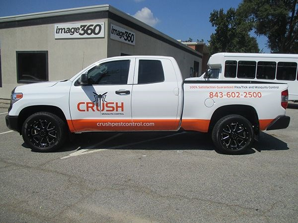 Crush Pest Control Full Truck Wrap