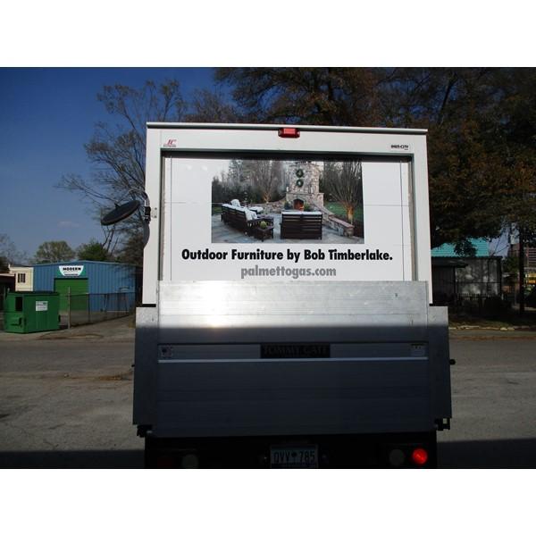 Fleet Graphics & Wraps-Palmetto Gas Rear box truck