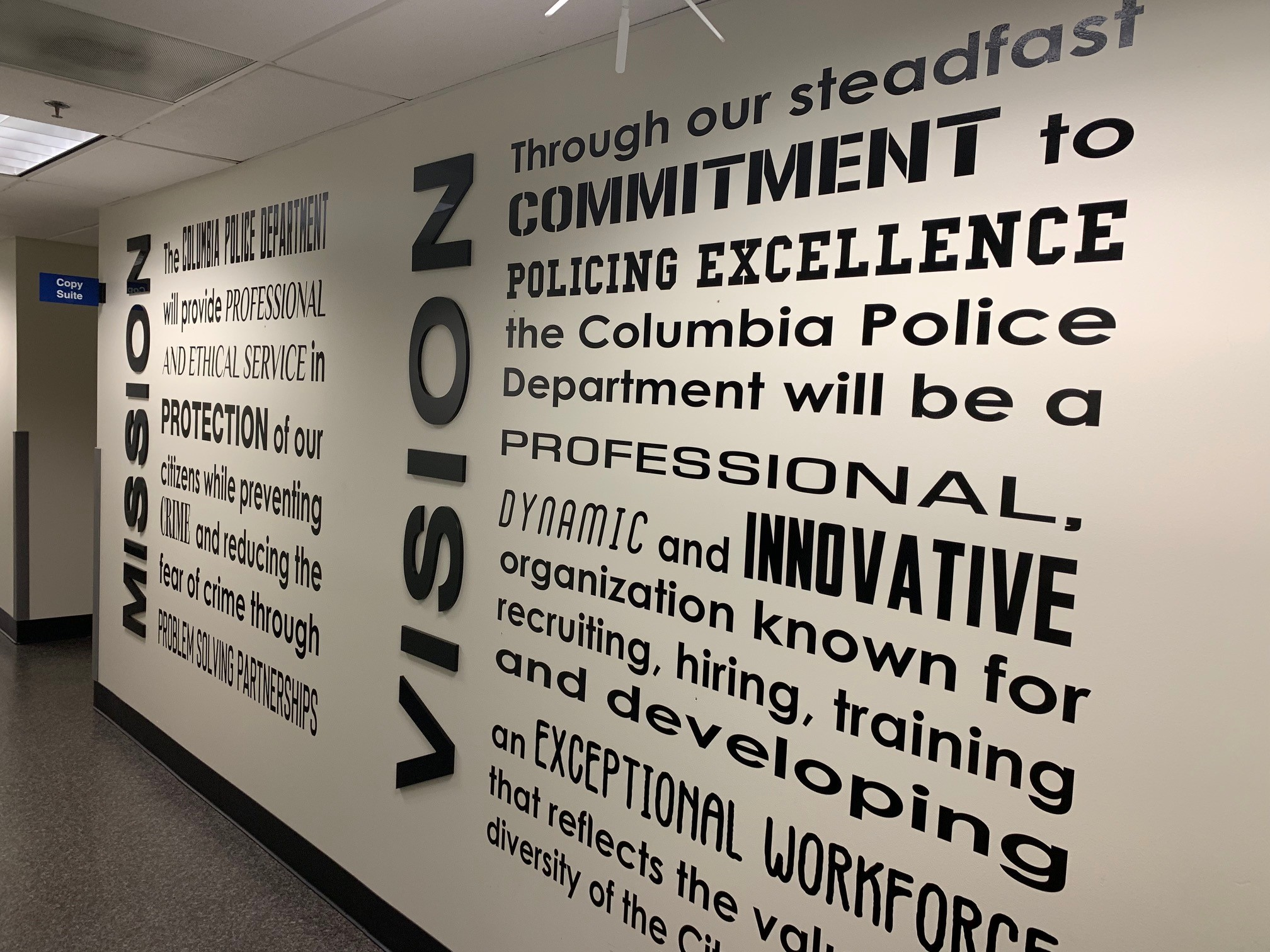 Interior Signage & Indoor Signs | Wall Graphics, Murals, Wallpaper | Government & Public Office Signs | Columbia