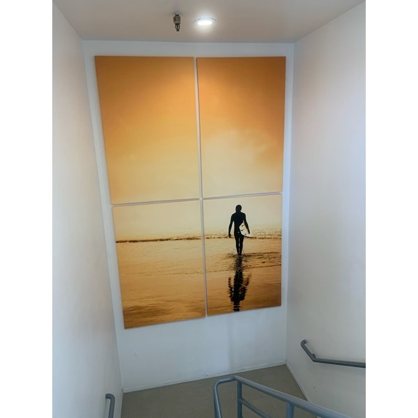 4-Panel Streched Canvas Wall Graphic