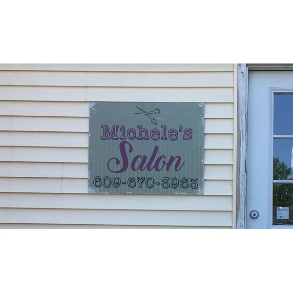 Michele reached out to us wanting a custom sign with a rustic look.