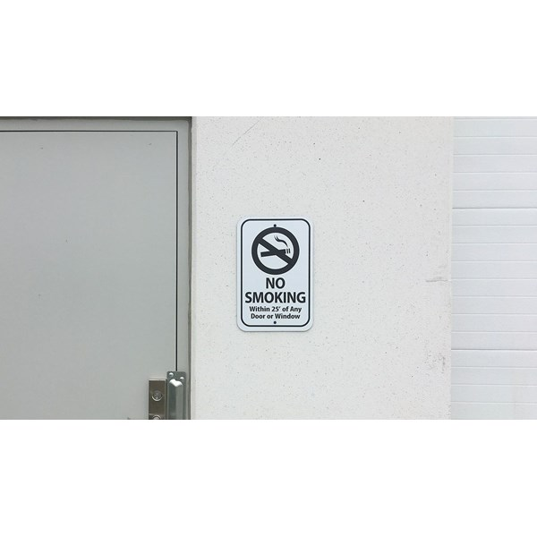 No smoking signs were printed and installed around Prologis properties.