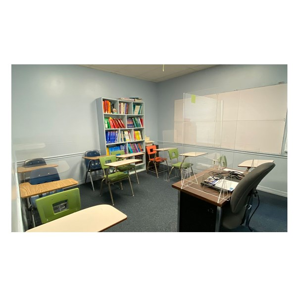 Acrylic guards for Center for Education to provide a safe learning atmosphere.