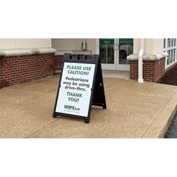 With bank lobbies closed due to COVID-19, WSFS needed an easy way to direct customers to their drive-thru.