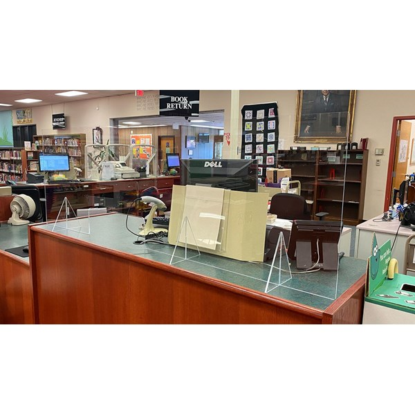 Acrylic guards were placed throughout Pennsauken Library to meet COVID-19 reopening guidelines.