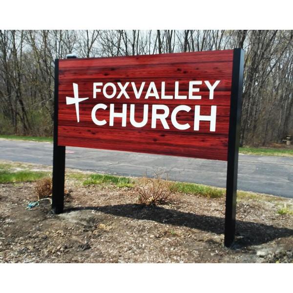 Image360 South Elgin - Fox Valley Church Monument Sign - Carpentersville, IL