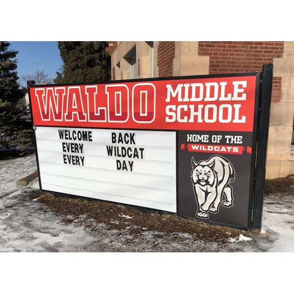 Lite Monument Sign - Aurora School District