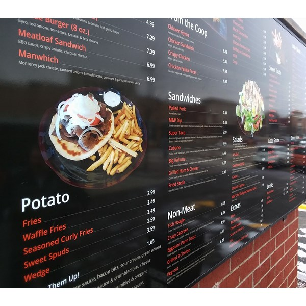 Outdoor restaurant menu boards - Lake Zurich, IL