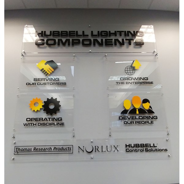 Interior Acrylic Display with standoffs
