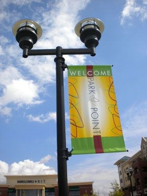 Pole pocket banners college campus in Rochester NY