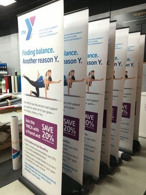 YMCA retractable banners Rochester NY