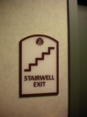Stairway Sign and ADA signage Rochester NY
