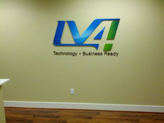 Custom company logo for office wall Rochester NY