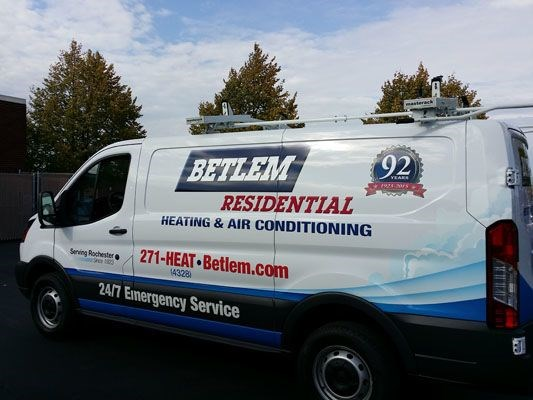 Betlem Residential Ford Transit Van vehicle graphics Rochester NY