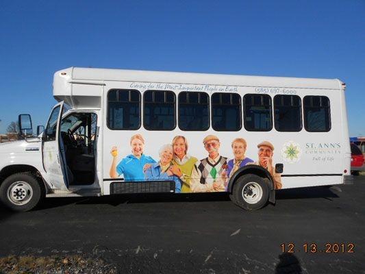 Retirement community bus wrap Rochester NY
