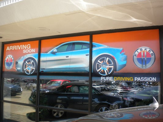 Car dealership window graphics Rochester NY