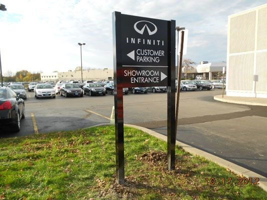 Car Dealership Directional Wayfinding Outside Sign Rochester NY