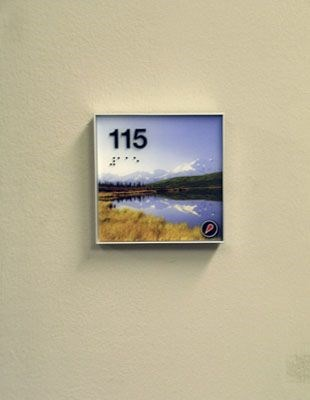 ADA Braille sign with room number Rochester NY