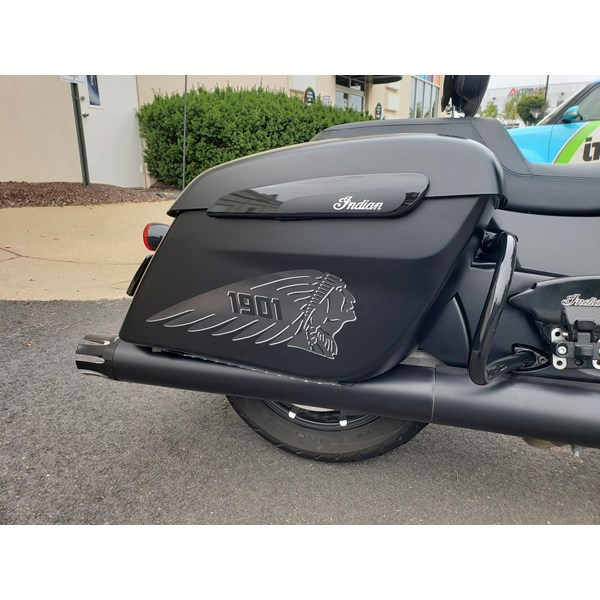 A personal customization for our friend at Paragon Aviation Detailing; custom decals for his 2019 Indian Chieftain motorcycle.