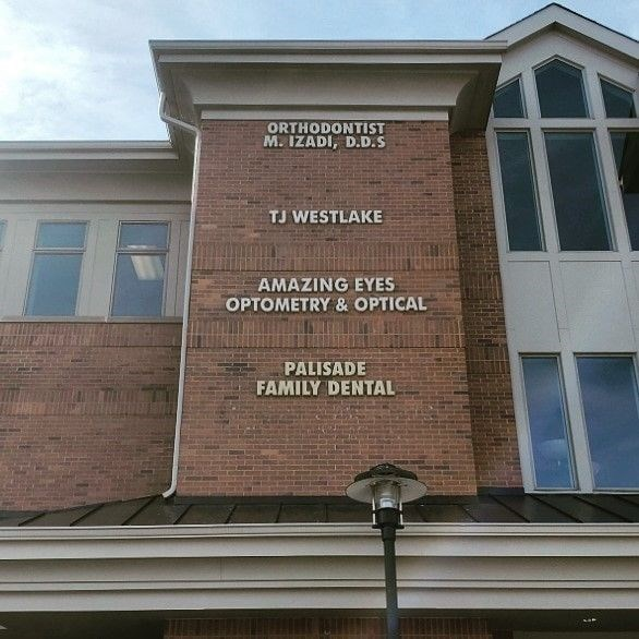 Palisade Family Dental was in need of exterior lettering for their building.
