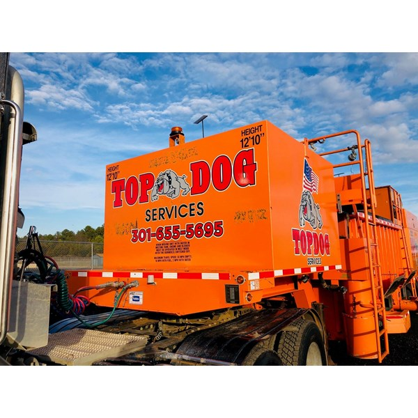 More branding for Top Dog on their new machinery. We can print large format to fit your needs!