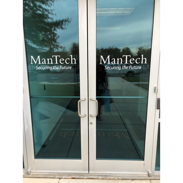 Our friends at ManTech needed their logo on some doors. Very clean and simple.