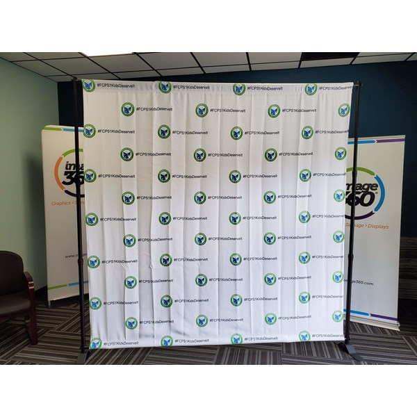 Fauquier County Public Schools needed an 8 x 8 Step & Repeat Banner. These products are great to promote your brand/message in photos at events!