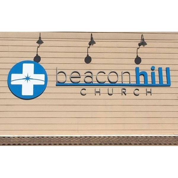 Foam and Acrylic Building Sign at Beacon Hill Church in Norco, CA
