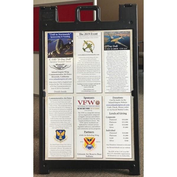 Sandwich board for Commemorative Air Force Base, Riverside, CA
