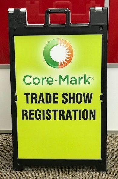 Trade Show Sandwich Board for Core Mark, Corona, CA