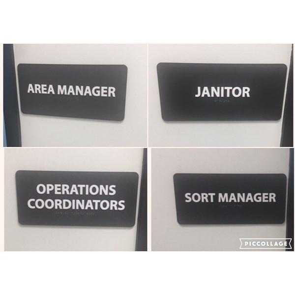 Custom ADA signs for FedEx Arcadia location, Image360Corona