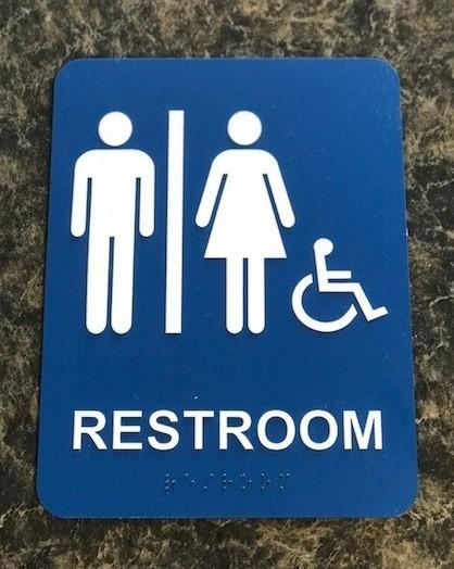 ADA Rectangle Gender Neutral Signage FedEx location-Image360 Corona