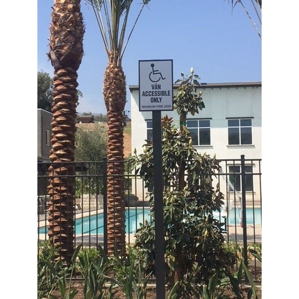 Van Accessible Handicapped Sign for TerranO Apartments, Dos Lagos, Corona, CA